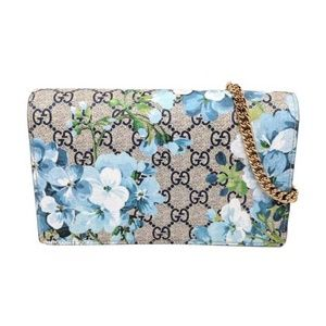 Gucci Blooms Blue Wallet on Chain